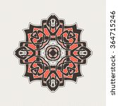 mandala. gothic lace tattoo.... | Shutterstock . vector #364715246