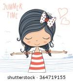 beautiful romantic girl vector...   Shutterstock .eps vector #364719155
