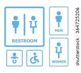 restroom sign set | Shutterstock .eps vector #364725206