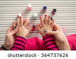 mother and daughter having fun... | Shutterstock . vector #364737626