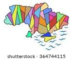 abstract map of ukraine | Shutterstock .eps vector #364744115
