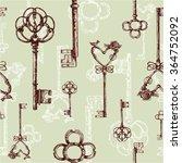 vintage keys. seamless pattern. ... | Shutterstock .eps vector #364752092