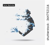 jumping man. vector eps10... | Shutterstock .eps vector #364752116