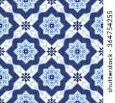 portuguese azulejo tiles. blue... | Shutterstock .eps vector #364754255