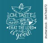 bible lettering. christian art. ... | Shutterstock .eps vector #364766072