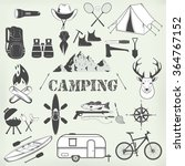 set of camping equipment... | Shutterstock .eps vector #364767152