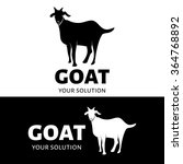 Vector Goat Logo. Black And...