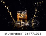 isolated shot of whiskey with... | Shutterstock . vector #364771016