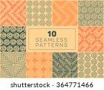 set of ten vector seamless hand ... | Shutterstock .eps vector #364771466