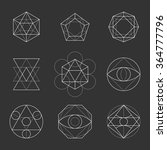 sacred geometry shapes.... | Shutterstock .eps vector #364777796