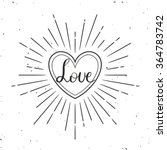 valentines day greeting card....   Shutterstock .eps vector #364783742