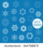 collection of vector snowflakes.... | Shutterstock .eps vector #364788875