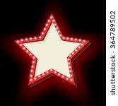 red retro star frame. the... | Shutterstock .eps vector #364789502