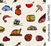 seamless pattern of kitchen... | Shutterstock .eps vector #364795142