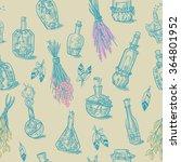 seamless of different bottles...   Shutterstock .eps vector #364801952