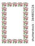 elegant frame with pink... | Shutterstock .eps vector #364802126