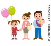 smile of a happy family | Shutterstock .eps vector #364814312