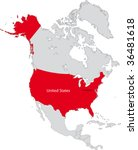 location of the united states... | Shutterstock .eps vector #36481618