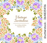 invitation with floral... | Shutterstock .eps vector #364835456
