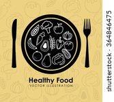 healthy food design  | Shutterstock .eps vector #364846475