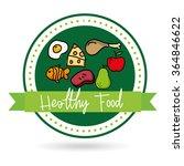 healthy food design  | Shutterstock .eps vector #364846622