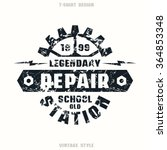 car repair badge with shabby... | Shutterstock .eps vector #364853348