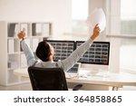 rear view of financial analyst... | Shutterstock . vector #364858865