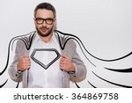 like a hero. confident young... | Shutterstock . vector #364869758