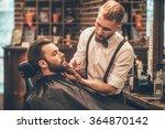 beard grooming. side view of... | Shutterstock . vector #364870142