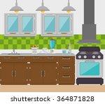 kitchen dishware utensils  | Shutterstock .eps vector #364871828