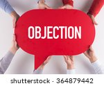 Small photo of Group of People Message Talking Communication OBJECTION Concept