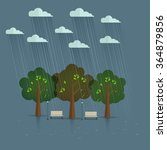 rainy season in park. natural... | Shutterstock .eps vector #364879856
