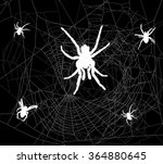 illustration with spider web... | Shutterstock .eps vector #364880645