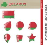 belarus flag set  flag set  18. ... | Shutterstock . vector #364884686