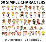fifty different type of people... | Shutterstock .eps vector #364888892