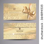 set of gold invitation cards... | Shutterstock .eps vector #364894535
