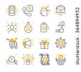 business marketing icons | Shutterstock .eps vector #364894952