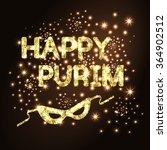 happy purim. purim golden... | Shutterstock .eps vector #364902512