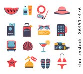 set of flat  vector icons for... | Shutterstock .eps vector #364917476