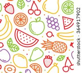 fruits seamless vector pattern... | Shutterstock .eps vector #364917902