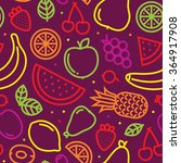 fruits seamless vector pattern... | Shutterstock .eps vector #364917908