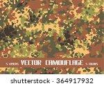 vector camouflage | Shutterstock .eps vector #364917932