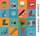 cool vector winter sports...   Shutterstock .eps vector #364918622