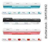 website design menu navigation... | Shutterstock .eps vector #364919642