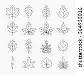 leaf line icons | Shutterstock . vector #364933016