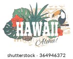 vintage tropical exotic hawaii... | Shutterstock .eps vector #364946372