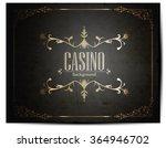 casino logo icon poker cards or ... | Shutterstock .eps vector #364946702