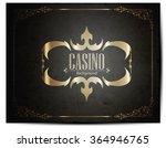 casino logo icon poker cards or ... | Shutterstock .eps vector #364946765