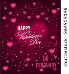 valentines day greeting card.... | Shutterstock .eps vector #364954148