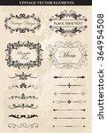 decorative vintage frames and... | Shutterstock .eps vector #364954508